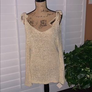 A Shappe Cold Shouldered Sweater